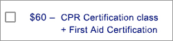 CPR Certification + First Aid Certification Class Reservation